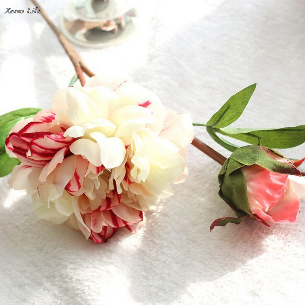 Bouquet Artificial Fake Peony Silk Flower Wedding Party Home