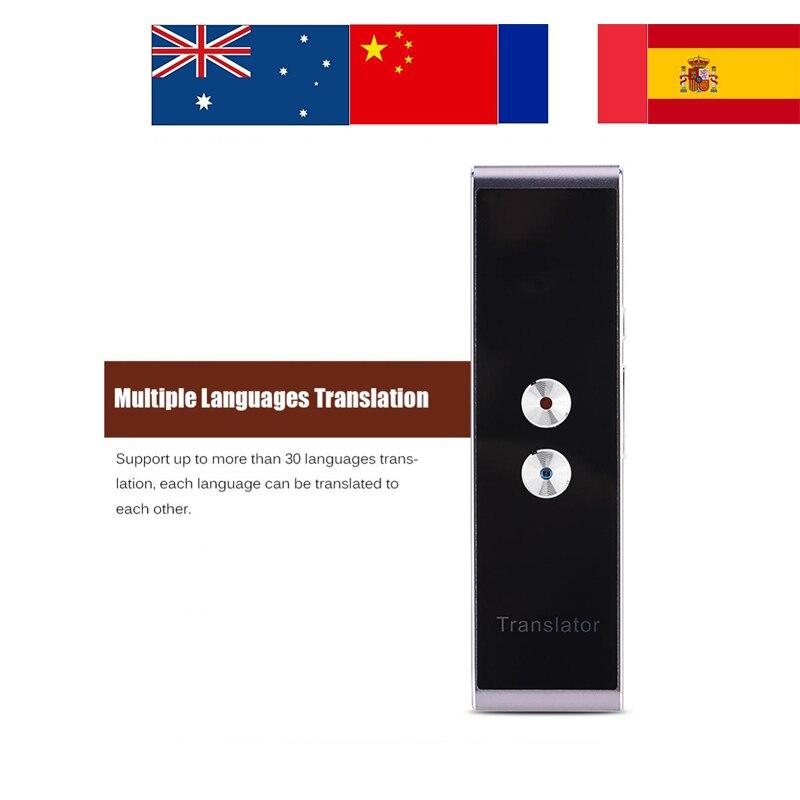 30 Multi-Язык T8 Портативный Smart Bluetooth двусторонний реальное голосового переводчика для обучения поездки за границу доставка