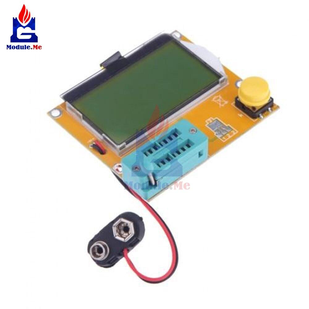 LCR-T4 M328 Mega328 ESR Meter LCR led Transistor Tester diodo triodo capacitancia módulo MOS PNP NPN 12864