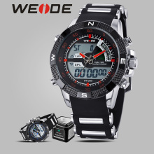 WEIDE Men's watches the best luxury brand automatic shockproof waterproof sport watches  men army camping Silicone digital clock weide steel series watches 2017 luxury brand sport led digital shockproof waterproof watch black quartz watches role clock 6102