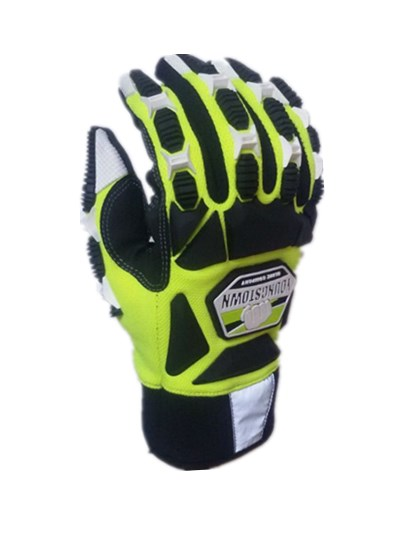 Impact Resistant. Cut Resistant. Anti-Vibration. High Visibility. Designed For Total Hand Protection Glove(large,green)