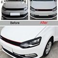 2 pcs DIY ABS plastics Car styling front headlight eyebrow Stickers Cover Case Sticker For Volkswagen POLO 2014-15 Accessories