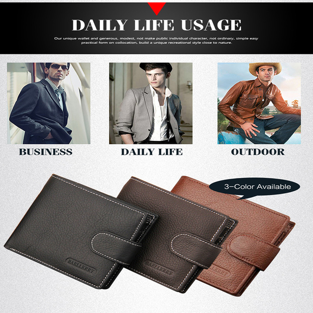 Vintage Style Leather Wallet For Men