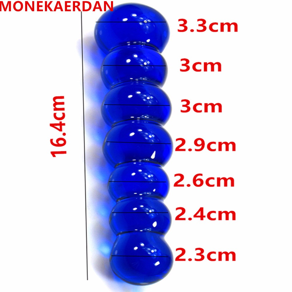 Glass Dildos Anal Beads Butt Plug In Adult Games Products For Couples , Erotic Anus Stimulator Sex Toys For Women And Men Gay domi 3cm big ball non toxic waterproof 5 ball anal beads butt plug anal sex toys adult games products