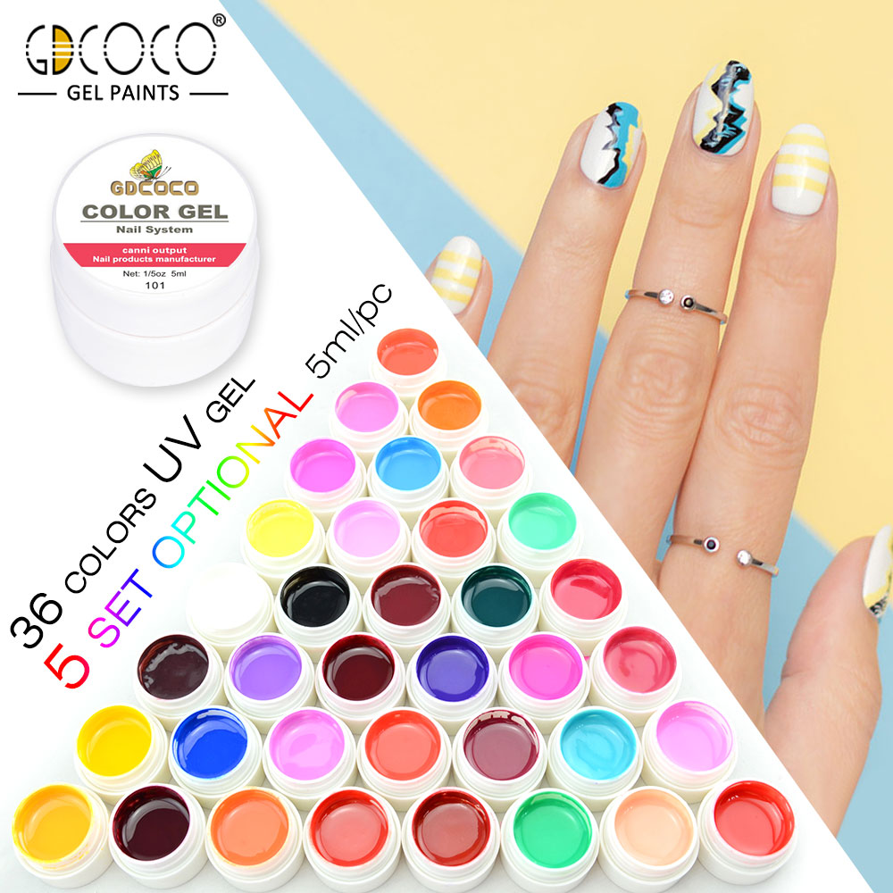 #20204 Hot Sale Canni Nail Gel Polish Painting Gel Output Nail Art Gel Paint GDCOCO UV Gel Nails Kit 24 pcs hot sale golden rivet splicing nail art fake toe nails