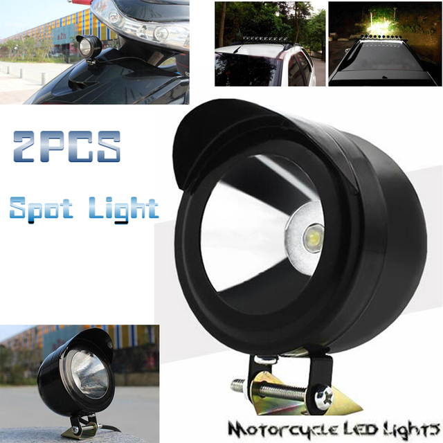 Perfect 2PCS Motorcycle Fog Light LED 5W Headlight Spotlight Safe Light Moto  Driving Spot Safety Night Head Design