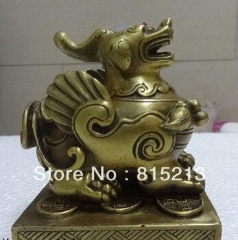 Bi00642 EN LAITON BRONZE PIXIU STATUE CHINOISE Feng Shui Collection|Statues et sculptures|Maison & Animalerie -