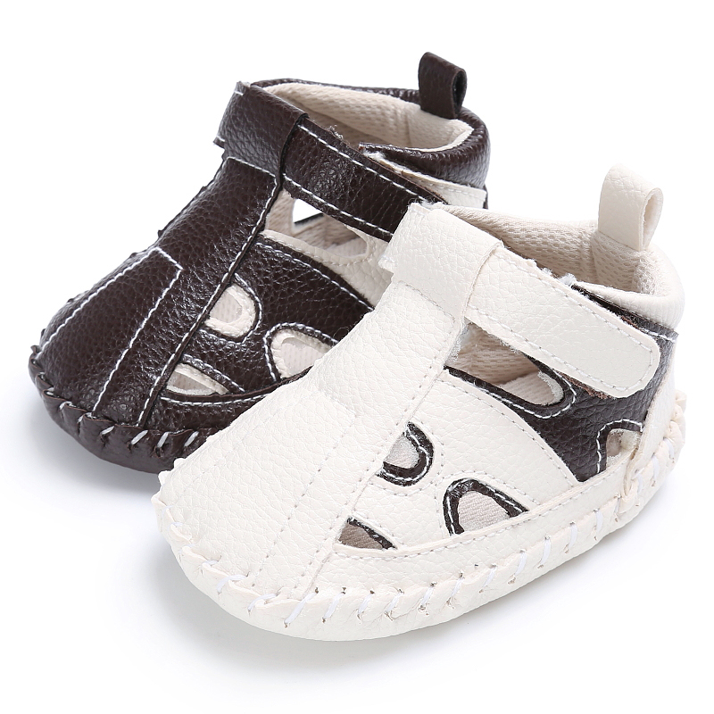 Infant Baby Sandal Summer Shoes Baby Boys Soft Leather Sandals Boys Summer Prewalker Soft Sole Genuine PU Leather Beach Sandals