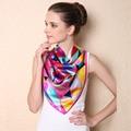 2017 Silk Scarves For Women Luxury Brand Scarf Bandana Summer Silk Scarf Stole Long Printed Kerchief Fashion Soft Beach Shawls