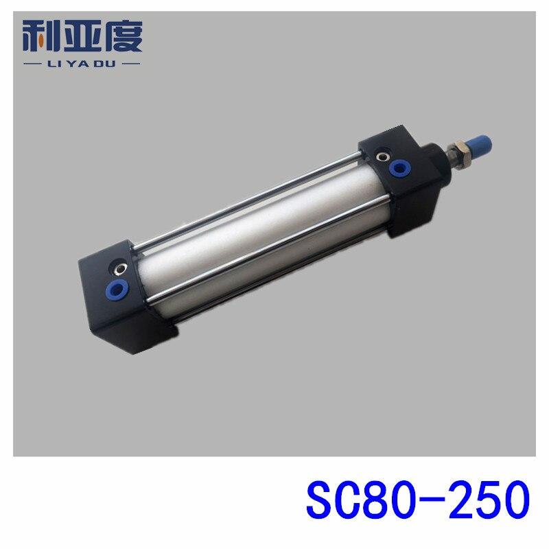 SC80*250 Rod aluminum alloy standard cylinder SC80X250 pneumatic components 80mm Bore 250mm Stroke sc80 175 rod aluminum alloy standard cylinder sc80x175 pneumatic components 80mm bore 175mm stroke