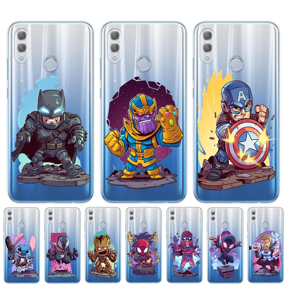 Luxury <font><b>Marvel</b></font> Avengers Heroes <font><b>Phone</b></font> <font><b>Case</b></font> For Coque Huawei <font><b>Honor</b></font> <font><b>9</b></font> 10 20 <font><b>Lite</b></font> Pro 10i 8X 8C 6X 7X Soft TPU Back Cover <font><b>Cases</b></font> Etui image