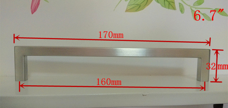 10pcs/lot (length:202mm) 10mm square bar stainless steel kitchen
