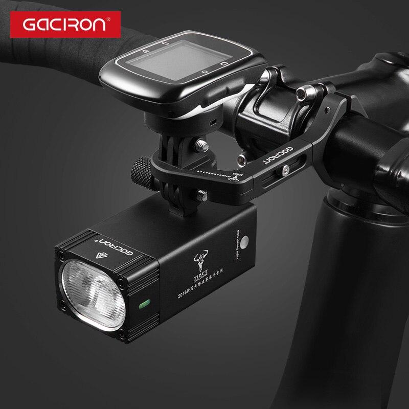 GACIRON 1000, 1600 люмен, велосипедный светильник, велосипедный головной светильник с креплением, водонепроницаемый перезаряжаемый велосипедный светильник для вспышки, аксессуары для гонок - 4