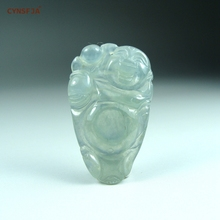 CYNSFJA Real Rare Certified Natural A Grade Burmese Jadeite Amulets Buddha Jade Pendant Ice Green Artwork Hand Carved Best Gifts цена и фото
