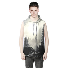 3D men's hoodie streetwear Fashion Pullover Forest hoodies sweatshirts man Tracksuits jacket anime Vest male Harajuku clothing