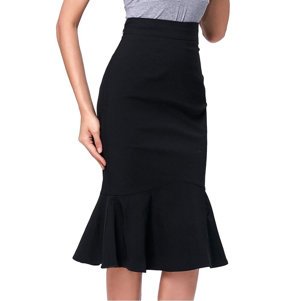 Kate Kasin 2017 Faldas Lápiz Para Mujer de Moda Tamaño Grande - Ropa de mujer