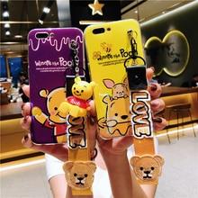 Для iPhone 8 plus милый Винни случае одежда с изображением мишки мягкая задняя крышка для iPhone X 8 7 7 плюс 6 S 6splus чехол телефона + игрушка + ремень