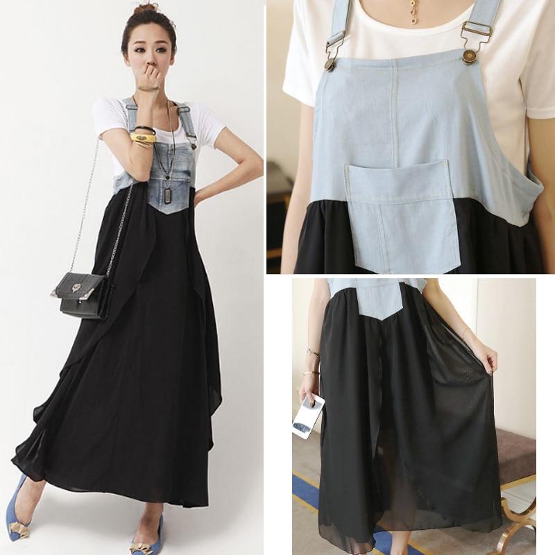 ef8091e5d84f5 Retro Vintage Maternity Dress Clothing Plus Size Denim Chiffon Dresses For  Pregnant Women Pregnancy Wear Black Casual Clothes
