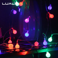 Christmas Tree Decorations LED Lamp Party Wedding Decoration Led Lights Halloween Decoration 220V European Regulations Plug