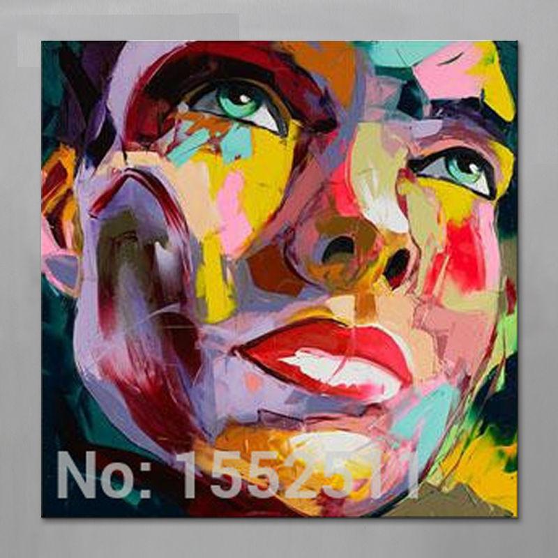 Paletmes schilderij portret Paletmes Gezicht Olieverf Impasto figuur - Huisdecoratie
