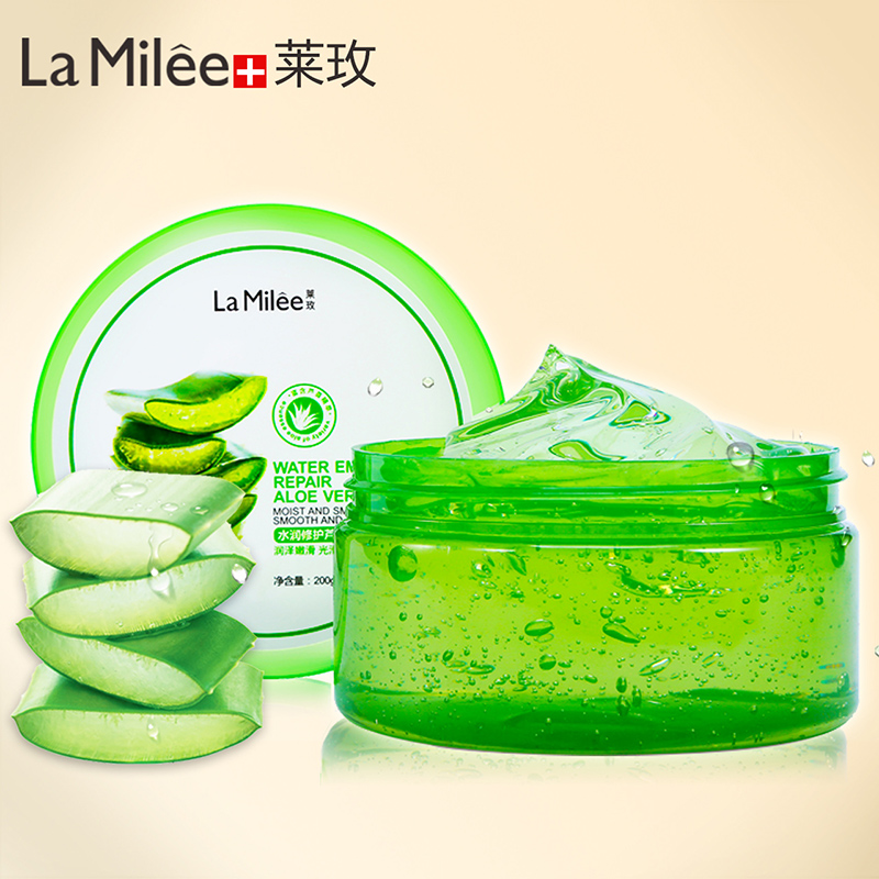 [ 200g ]LAMILEE Natural Aloe Vera Smooth Gel Acne Treatment Face Cream For Hydrating Moist Repair After Sun