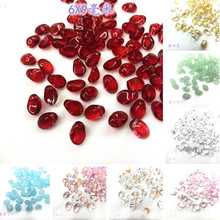 Popular Little Moon Shape Crystal Loose DIY Beads Mixed Color Accessory Glass Loose Beads 20 pieces y12568