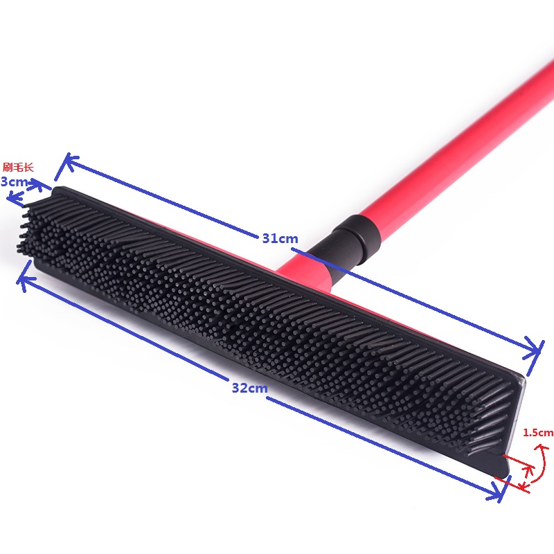Multifunctional telescopic broom magic rubber besom cleaner pet hair removal brush home floor dust mop & carpet sweeper 1