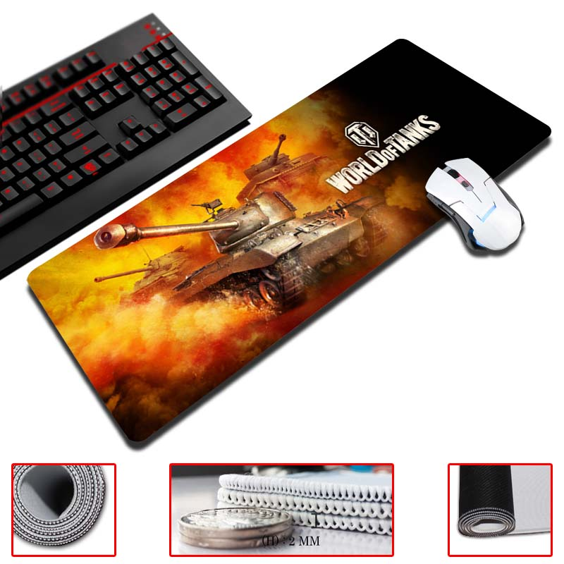 лучшая цена MaiYaCa Tank World Customized Mouse Pad Oversized Mouse Pad Table Pad Keyboard Pad Natural Rubber Thicker