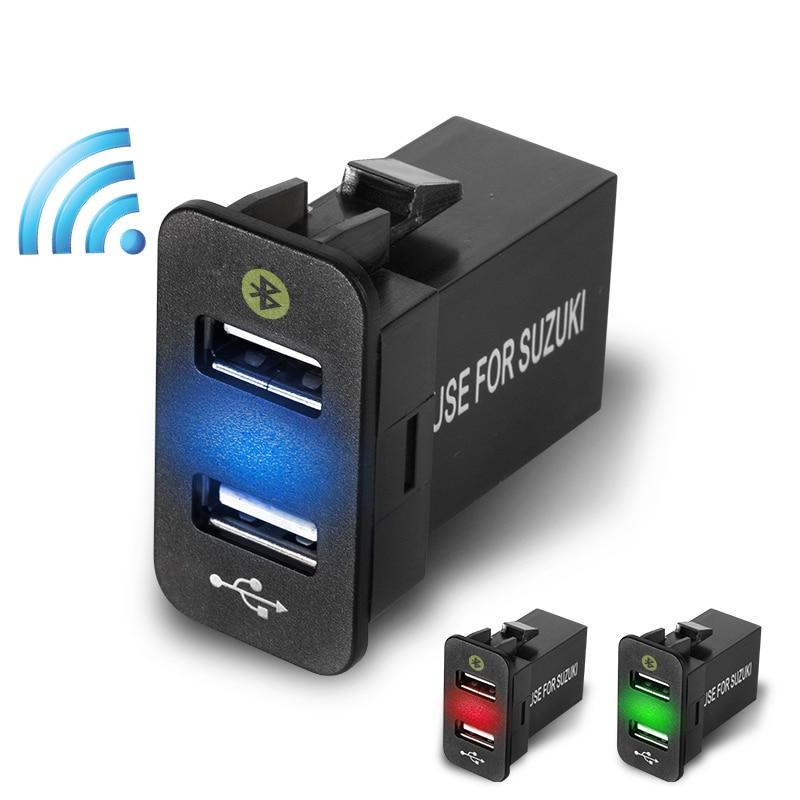 Good Product 12V USB Socket Car Charger For Suzuki Liana Araba Aksesuar Car LED Light Outlet With USB Dual Port Parking Location
