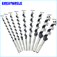 9pcs Bits Quality Steel Sharp Twist Drill Auger Bit For Electrical Drill Woodworking Tools 8 10