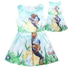 Kids dresses for girls clothes beauty and the beast dress children vestido infantil summer girls dress flower robe fille enfant