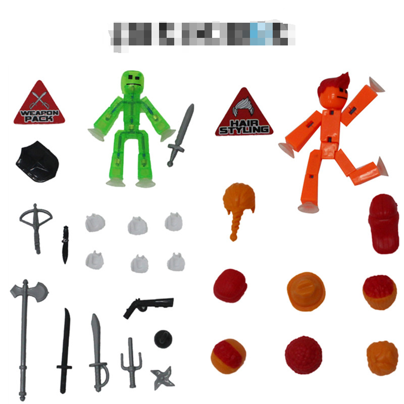Stikbox Stik Bot pantalla animación juguetes arrojar muñecas con bricolaje lechón Creat película de animación StikBot juguetes arrojar niños regalo de cumpleaños