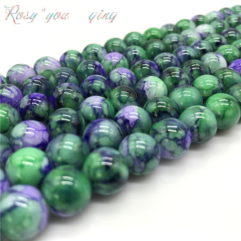 Wholesale 6 8 10mm  Exquisite  pattern glass bead spacer jewelry Bulk Beads For DIY Making Bracelet Necklace Jewelry #08