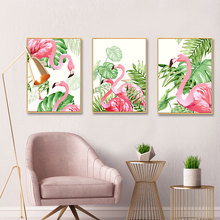 Flamingo Plants Nordic Poster Picture Turtle Leaf Wall Art Pictures Posters And Prints For Living Room Canvas Painting Unframed