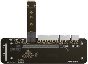M.2 NVMe External Graphics Card M key Stand Bracket with PCIe3.0 x4 Riser Cable 25cm 50cm 32Gbs For ITX STX NUC VEGA64 GTX1080ti(China)