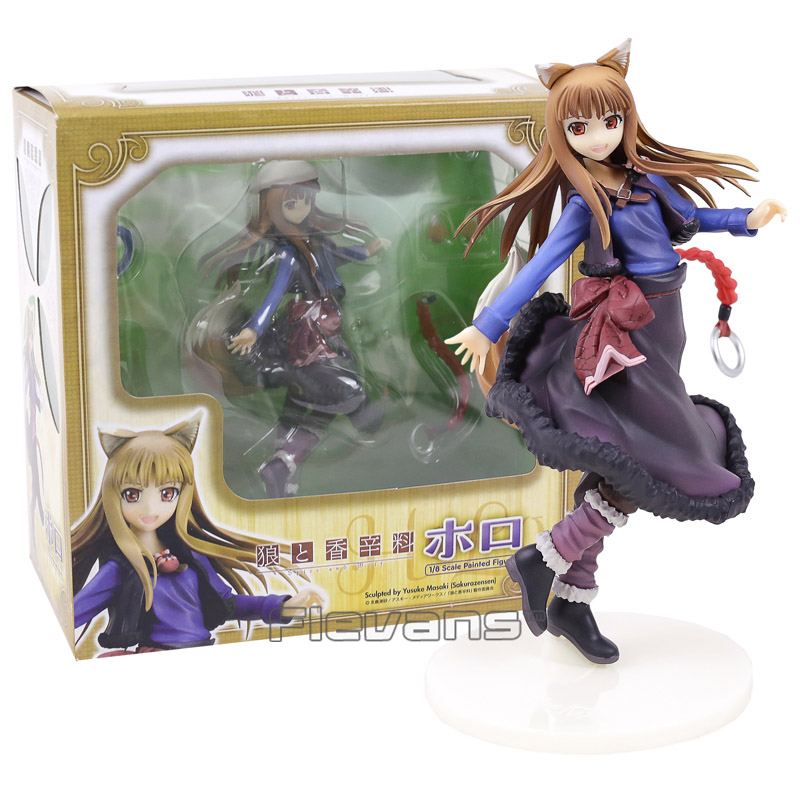 Anime Spice and Wolf Holo 1/8 Scale PVC Painted Figure Collectible Model Toy 20cm 20cm figurine japanese anime spice and wolf holo pvc action figures sexy girl model toys gift