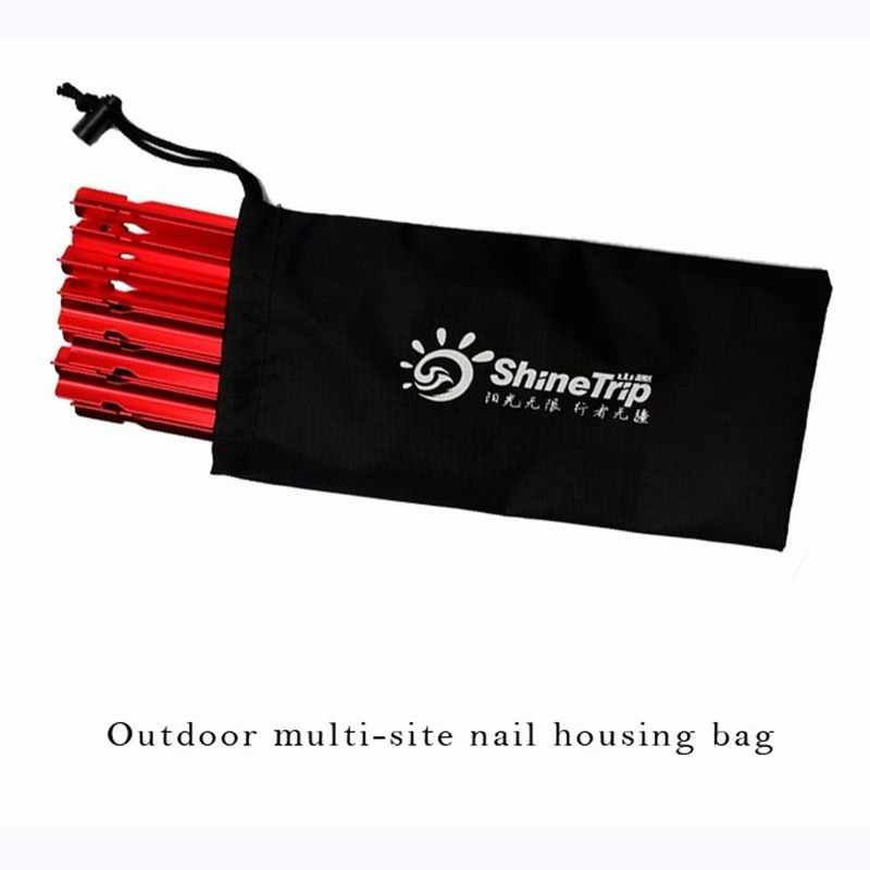 23cm tent pegs bag camping tent hammer wind rope tent nail storage pouch FO V$