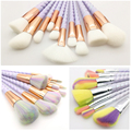 Unicorn Makeup Brushes 10pcs Thread Rainbow full Professional Make Up Brushes set Blending Powder foundation eye contour Brush.