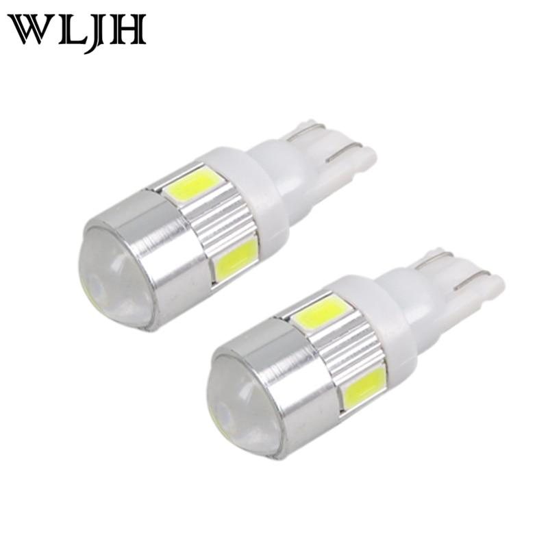 Wljh 2x 12v Car Led Light T10 W5w Led Bulb For Samsung