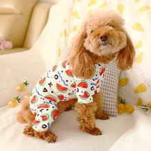 Одежда для собак es для маленьких и крупных собак, летняя одежда, одежда для щенков, рубашка с мультяшным принтом, собачий Щенячий жилет, футболка, одежда для собак