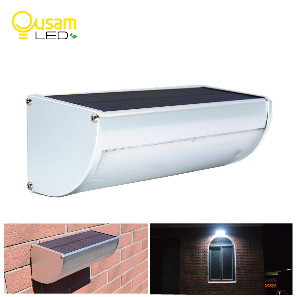 цена Ousam LED Solar Motion Sensor Lights Newest 900/1100LM Super Bright Waterproof Garden Wall Security Lamp Microwave Radar Motion