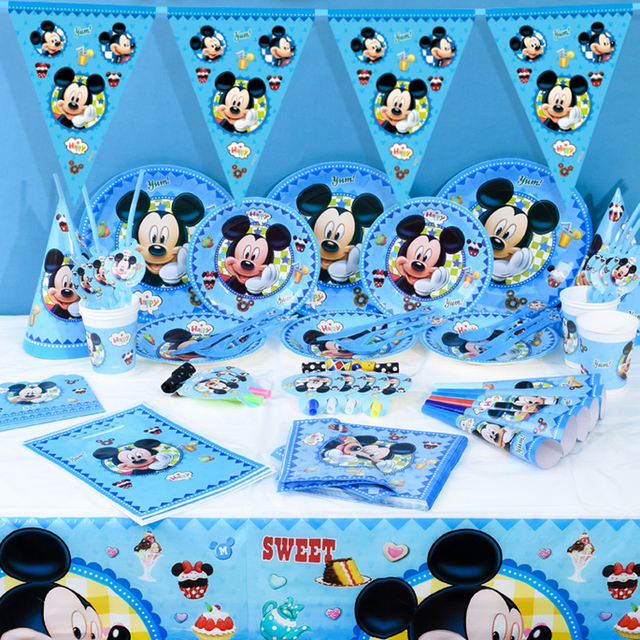 Disney Mickey Mouse Theme Tableware Party Decoration For Children Boys Girls Event Birthday Party Supplies Wedding & Disney Mickey Mouse Theme Tableware Party Decoration For Children ...