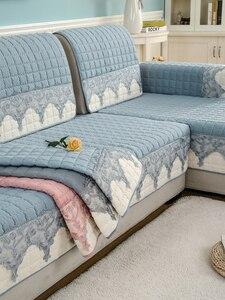 Image 5 - Four seasons sofa cushion, universal non slip sofa cover cushion, European full cover autumn and winter