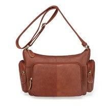 Женская сумка из 100% воловьей кожи, женская сумка мессенджер из натуральной кожи, женские маленькие сумки на плечо, сумки через плечо для дам MM2313