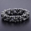 Davieslee Biker Motorcycle Celtic Knot Link 316L Stainless Steel Bracelet Mens Boys Chain DLHB427
