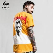 ФОТО sumen justin bieber printed men t-shirt hip hop short sleeve t-shirt fashion summer casual tops tee shirt cotton streetwear