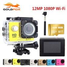 Goldfox действие Камера 1080 P Full HD 30 м действие Камера Go ВОДОНЕПРОНИЦАЕМЫЙ PRO Спорт DV велосипед шлем автомобилей Cam автомобильный видеорегистратор с Розничная упаковка