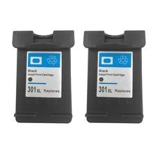 2 шт. картридж для hp 301 XL 301XL черный картридж для HP 2620 4630 зависть 4500 5530 Deskjet 1000 1050 2000 2050 2510 3000