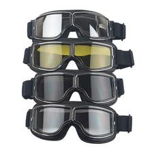Pelle Geniune goggles per harley stile caschi da moto antivento occhiali UV-protetto per retro vintage 3 snap moto caschi