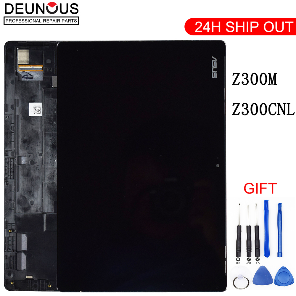 New 10.1 inch For ASUS ZenPad 10 Z300M P00C P021 Z300CNL P01T LCD Display Touch Screen Digitizer Assembly Replacement Frame white new lcd display touch screen digitizer replacement repair frame assembly for iphone 5s